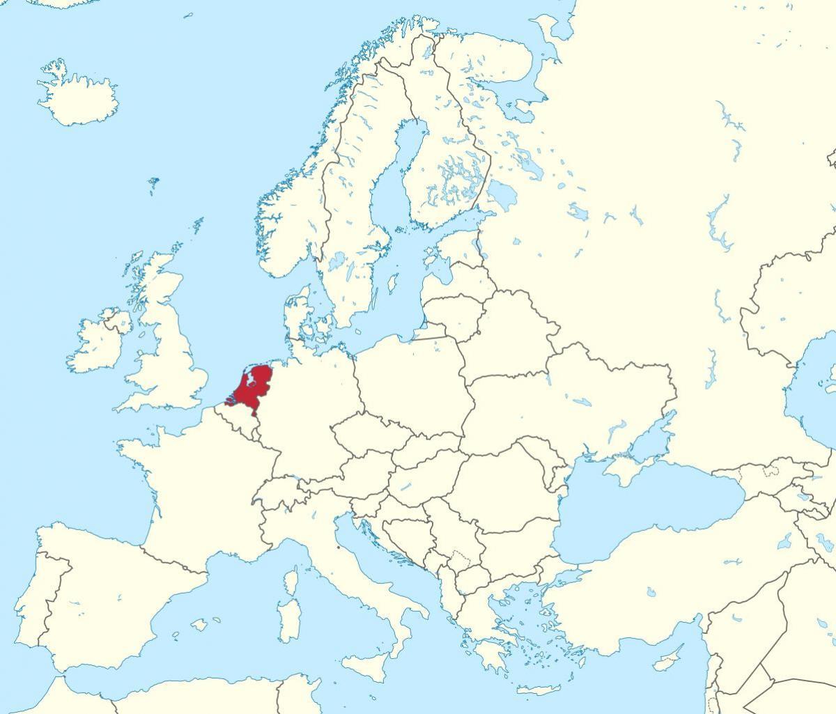 Europa Kortet Holland Holland Kort Europa Det Vestlige Europa