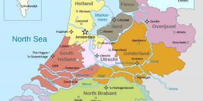 Holland City Map Kort Over Holland Byer Western Europe Europe